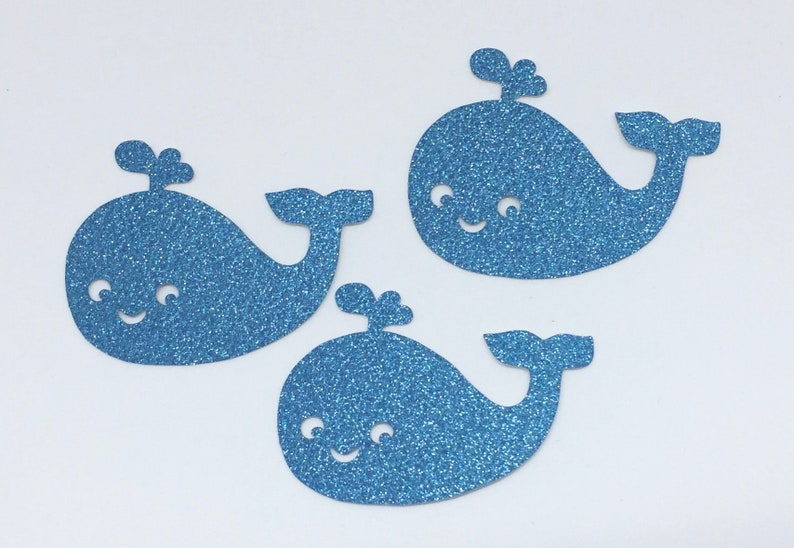 Whale Glitter Die Cutouts Handmade Scrapbooking Birthday Party Invitation Collection Stationery Decoration