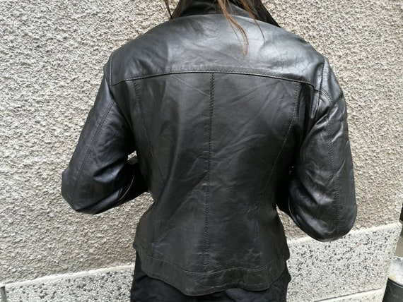 Leather jacket women black, Leather jacket black,… - image 2