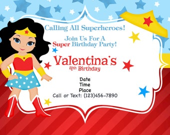 Supergirl Invitation Etsy