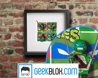 Teenage Mutant Ninja Turtles Lego Framed