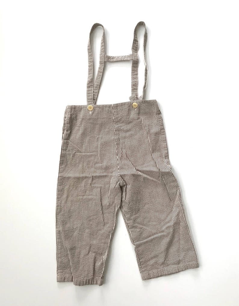 123ae3799bdce Vintage Size 5 Brown striped Cropped Pants, Boys or Girls Summer Knickers