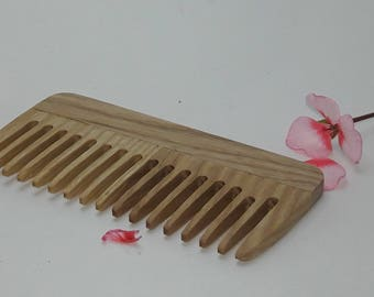 Wooden comb  Beard comb For men For him  Moustache comb Hair comb