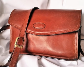 Gianni Conti pelle marrone borsa messenger bag b8f26b1973a