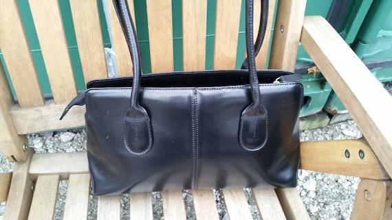 Vintage Austin Reed Black Leather Purse Smooth Black Leather Etsy