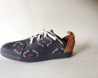 NEW! E-Taen Print Series collection: #RECTANGULARDIAMONDNo4 in #semiloafersneakers