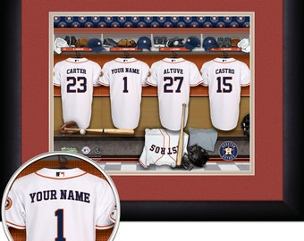 MLB-Houston Astros 15x18 MATTED and FRAMED Personalized Stadium Print