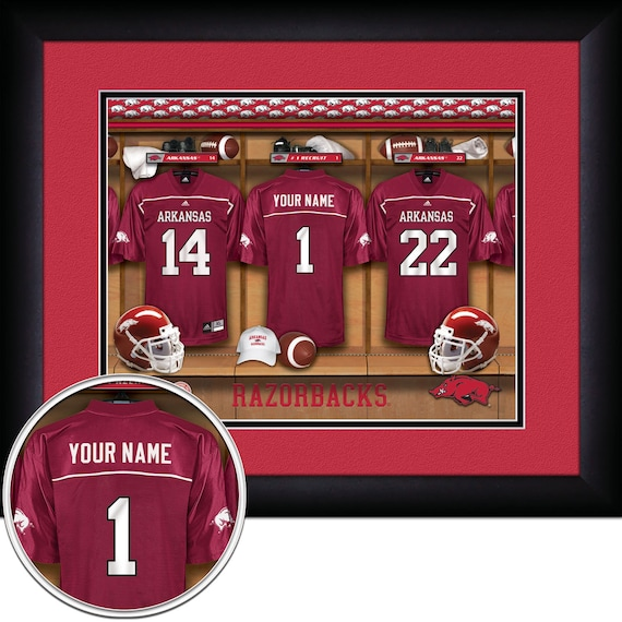 3d0649eba NCAA Football-Locker Room Print Arkansas Razorbacks