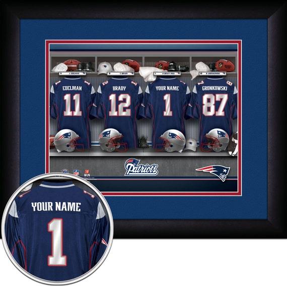 897f079b1 Locker Room Print NFL New England Patriots Personalized