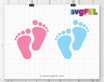 INSTANT DOWNLOAD! SVG, Baby Feet Svg, Baby Feet, Baby Svg, Baby Shower Svg, Newborn Svg, Baby Foot Svg, Svg Files, Silhouette Files, Cricut