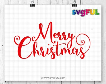 INSTANT DOWNLOAD! Merry Christmas Svg, Merry Christmas Svg, Christmas SVG, Svg Files, Cricut Cut Files, Silhouette Cut Files