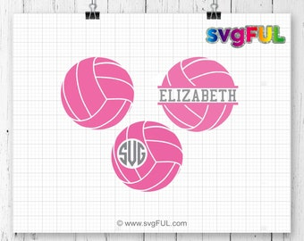 INSTANT DOWNLOAD! SVG, Volleyball Svg, Volleyball Frames Svg, Volleyball Monogram Svg,  Volleyball Split Svg, Volleyball Team