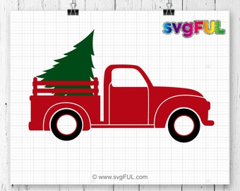 INSTANT DOWNLOAD! Christmas Truck SVG,Christmas Tree Truck svg, Christmas Svg, Merry Christmas Svg, Cricut Cut Files, Sihouette Cut Files