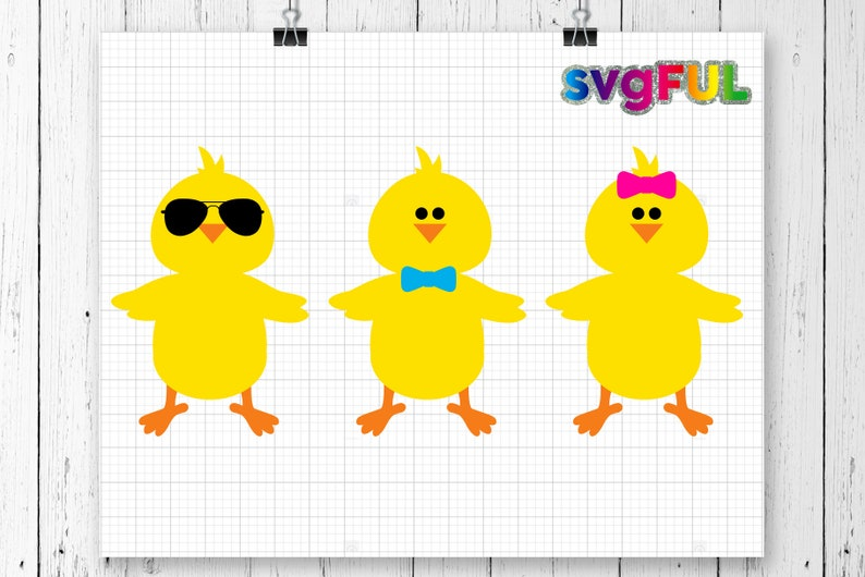 Easter SVG Chick Svg Easter Chick Svg Cute Easter Chick image 0