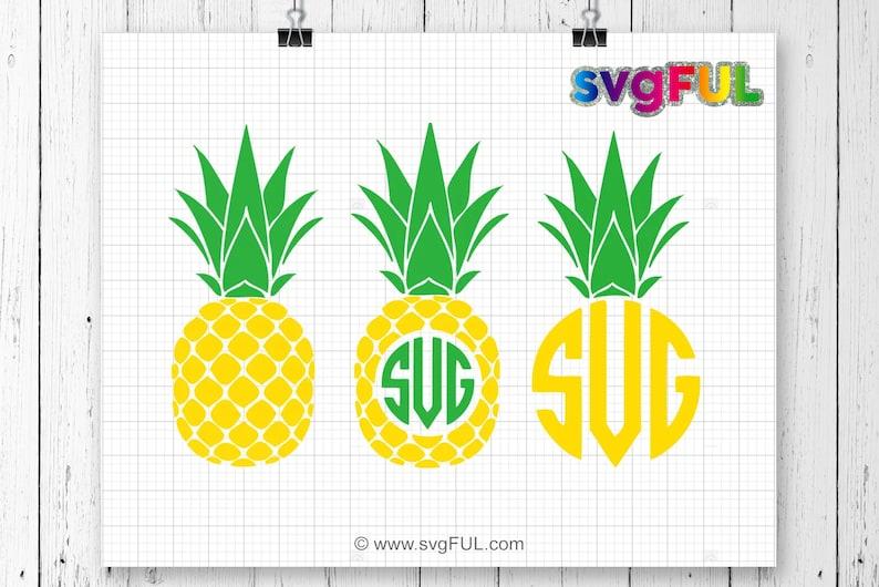 Pineapple Svg Pineapple Monogram Svg SVG Files Cricut Cut image 0