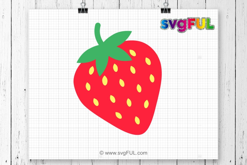 Strawberry Svg Strawberry Clipart Strawberry Cutting File image 0