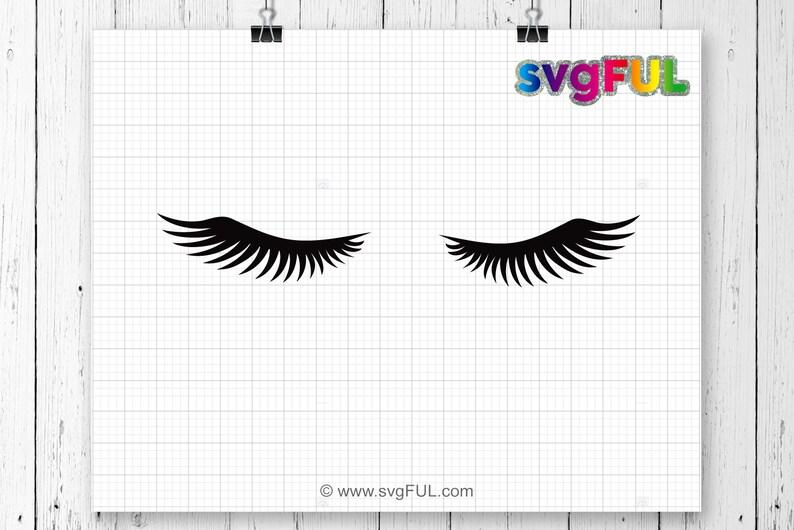 SVG Eye Lashes Svg Clipart Svg Dxf Pdf Cricut Cut Files image 0
