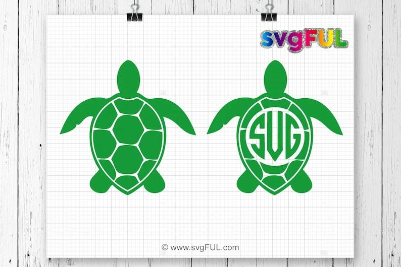 Sea Turtle Monogram Svg Sea Turtle Svg Sea Turtle Monogram image 0