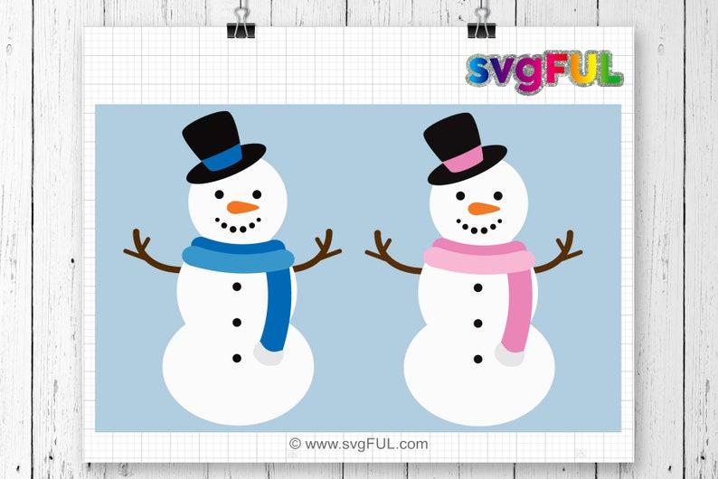 Snowman Svg Christmas Svg Silhouette Cut Files Cricut Cut image 0