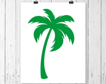 INSTANT DOWNLOAD! SVG, Palm Tree Svg, Palm Tree Monogram Svg, Tropical Tree Svg, Summer Svg, Svg Files, Cricut Cut Files, Silhouette Cut
