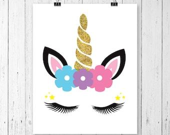 INSTANT DOWNLOAD! SVG, Glitter Unicorn head Svg, Unicorn Clip Art, Unicorn Face Svg, Cute Unicorn Svg, Cricut, Silhouette Cut