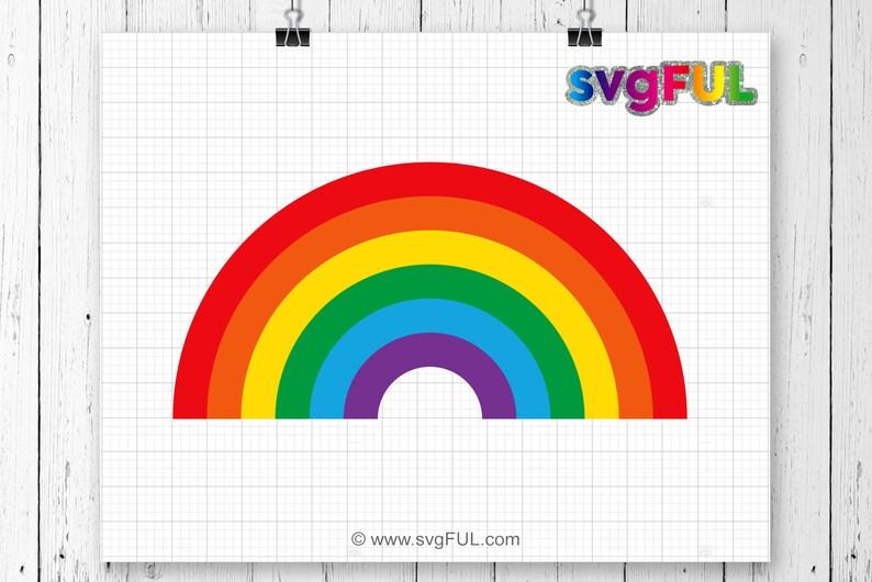 SVG Rainbow svg Rainbow cut file Rainbow with magic svg image 0
