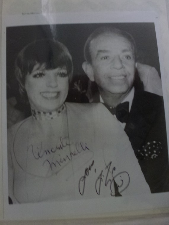 Rare Autographed Photo of Liza and Vincent Minnelli together