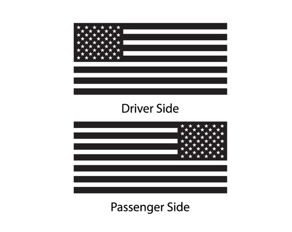 USA Flag Decal for Toyota Sequoia 2008-present TRD Pro American Side Window BR2