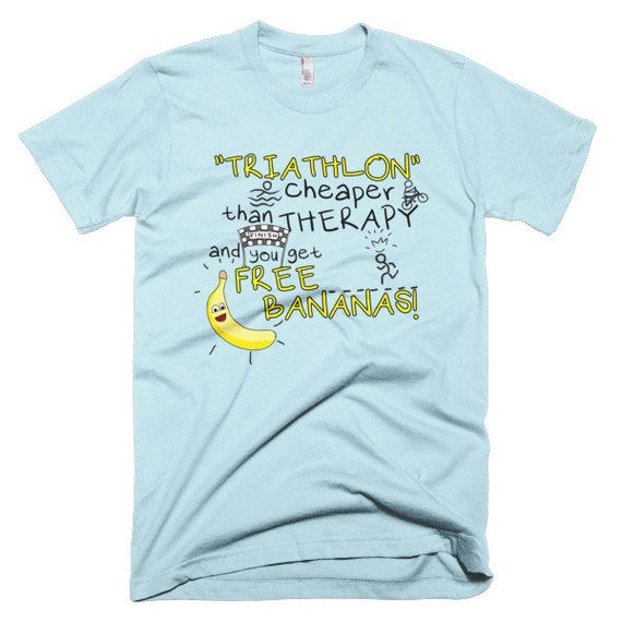 5ae13e6f1ab Triathlon  Cheaper Than Therapy T-shirt Funny tee Fitness