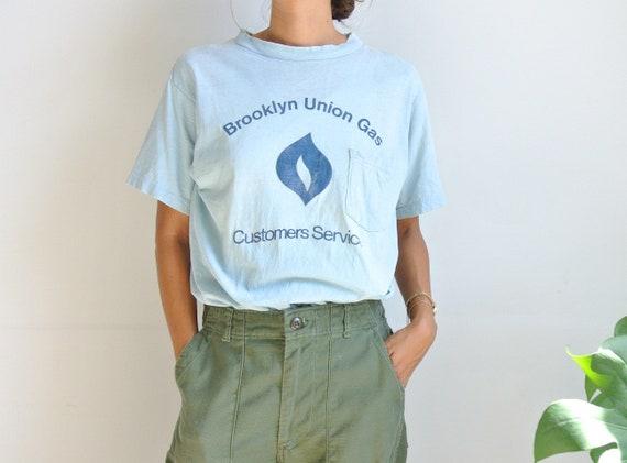 Vintage 1980s Brooklyn Union gas distressed baby b