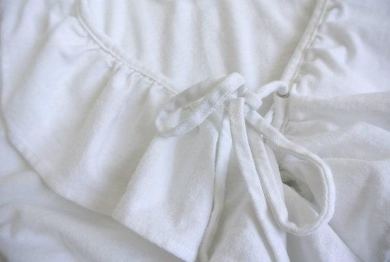 Vintage 1990s white ruffle blouse - image 2