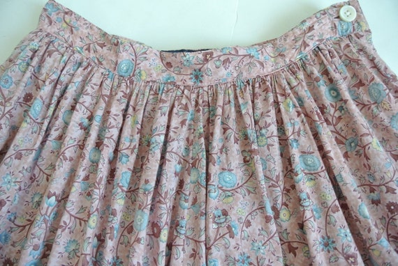 Vintage 1980s Ralph Lauren cotton floral flared s… - image 4