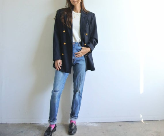 Vintage 1990s made in Italy GAP navy double breast