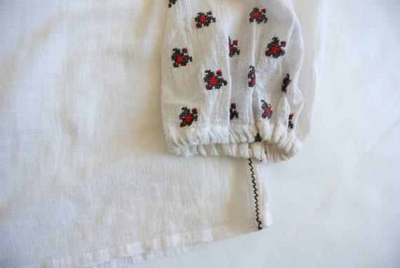 Vintage 1960s Hungarian cotton gauze peasant blou… - image 7