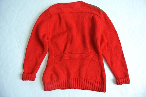 Vintage 1980s Ralph Lauren red wool cardigan - image 8
