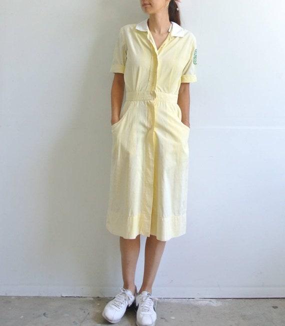 Vintage 1940s Miami University nurse uniform faded