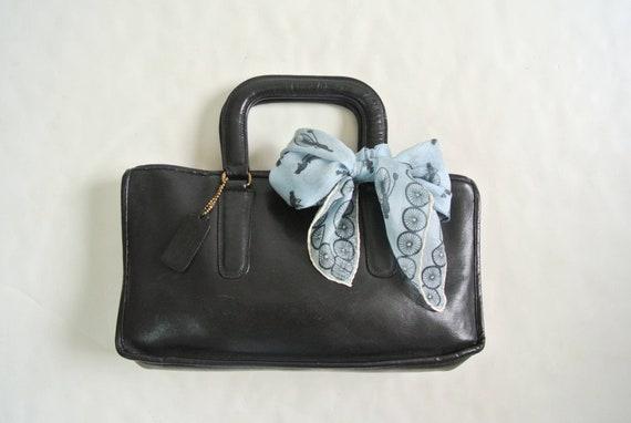 Vintage 1970s Bonnie Cashin black Satchel bag brie