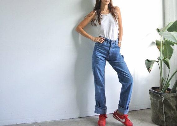 "Vintage 1980s Wrangler carpenter jeans W28"""