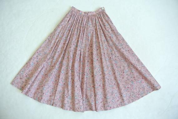 Vintage 1980s Ralph Lauren cotton floral flared s… - image 2