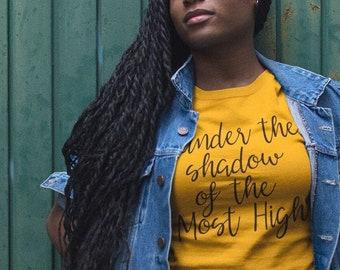 Under the Shadow of the Most High Shirt, Scripture Shirt, Psalm 91 shirt, Bible verse gift, Christian apparel, Christian gift