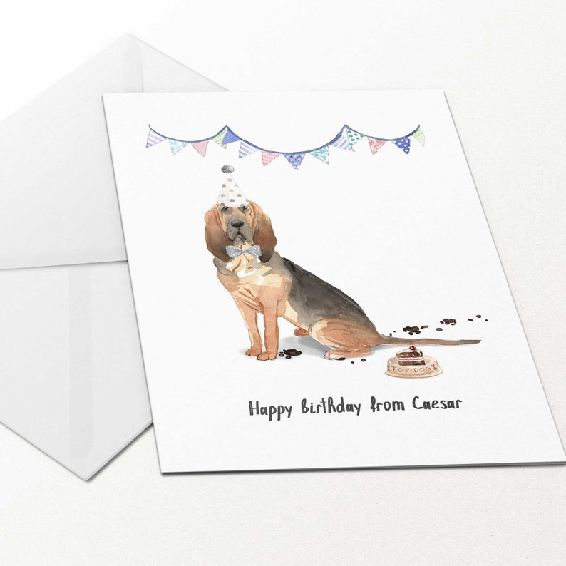 Hounds Birthday Card Blank Art Fathers Day Labrador Dog Dogs Animal Lover Card