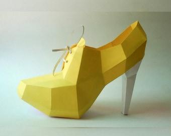 Diy Papercraft Shoe Etsy
