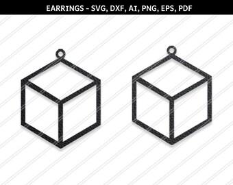 Pentagon earrings svg,SVG earring,Jewelry svg,leather jewelry,Cricut silhouette,Earrings vector,Diamond earring,svg,dxf,ai,eps,png,pdf