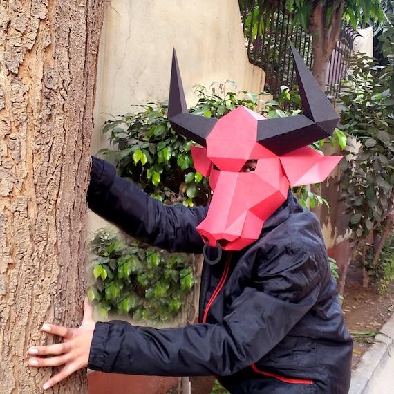online in vendita buono autentica di fabbrica Maschera di Toro Fai da te mascherina del partito Costume | Etsy