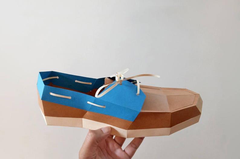 Diy Paper Craftpaper Loafer Shoe3d Etsy
