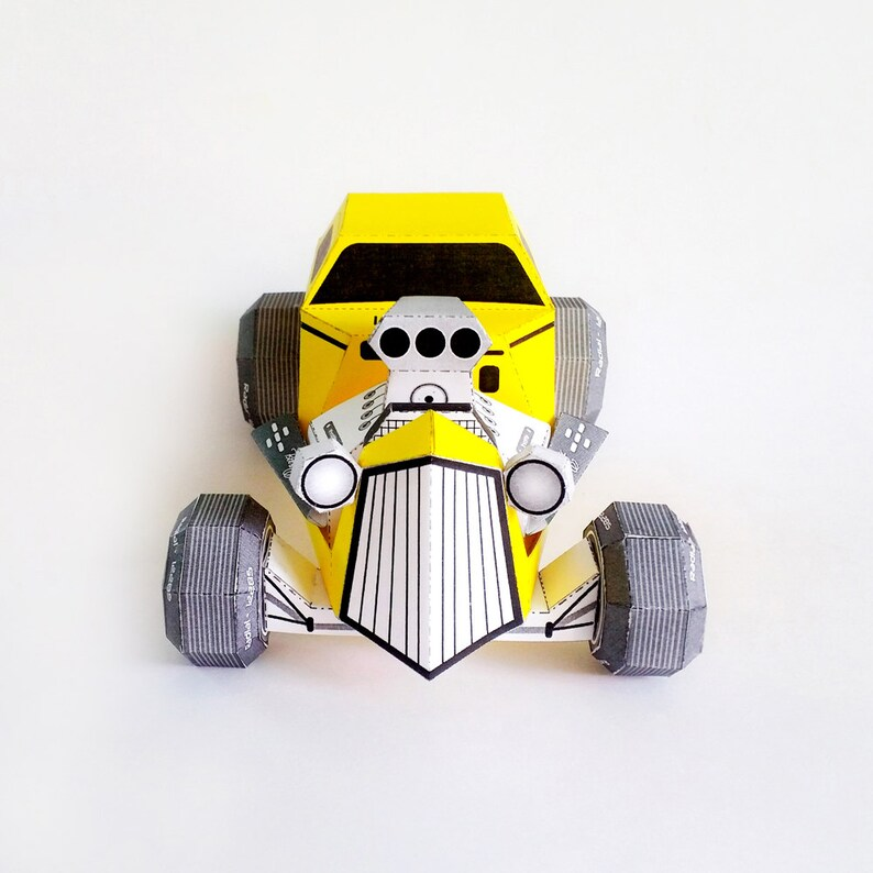 DIY Papercrafts, Hot rod paper model,Paper toys,Printables,Origami,3d paper  model,Handmade paper model,Hotrod,Paper art decor