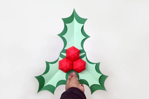 50 - Christmas Holly Decorations