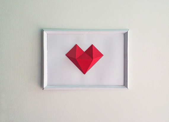 DIY Paper Heart Frame Papercrafts Paper heart Wall decor | Etsy