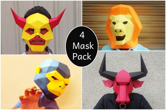 Halloween DIY-Maske Partei Maske Papercraft Affenmaske | Etsy