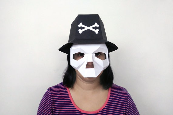 Halloween Papercraftskull Hatskull Maskpaper Etsy