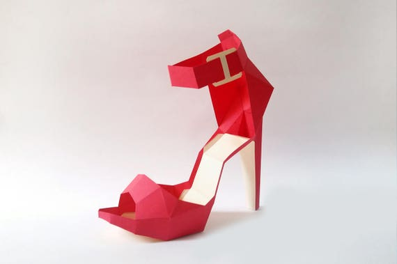 DIY Papier-Modell High Heel Bauch Papercraft sofortiger | Etsy